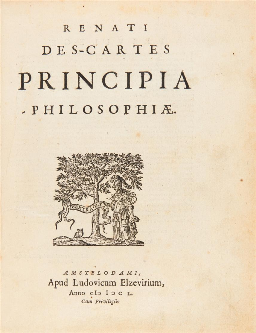 R. Descartes,  Opera philosophica. 2. Aufl.5 Tle. in 1. Bd. Amsterdam 1650.