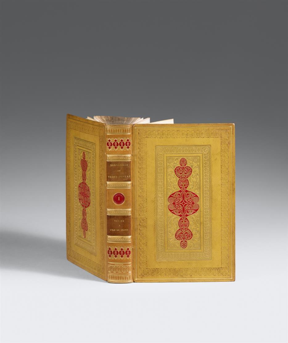 J.-H.-B. de Saint-Pierre, Oeuvres complètes. 12 Bde. Paris 1818. - VA in Meistereinbänden von Thouvenin.