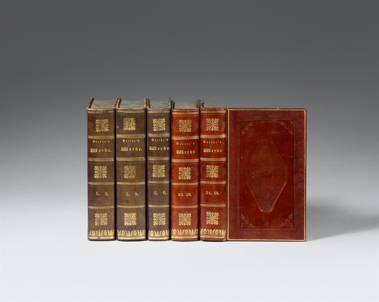 J. W. v. Goethe, Werke. Vollst. Ausg. letzter Hand. 55 in 28 Bdn. Stgt. u. Tüb. 1827-1834.
