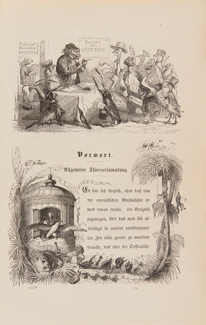 J. J. Grandville, Bilder aus dem Staats- und Familienleben der Thiere. Lpz 1846.