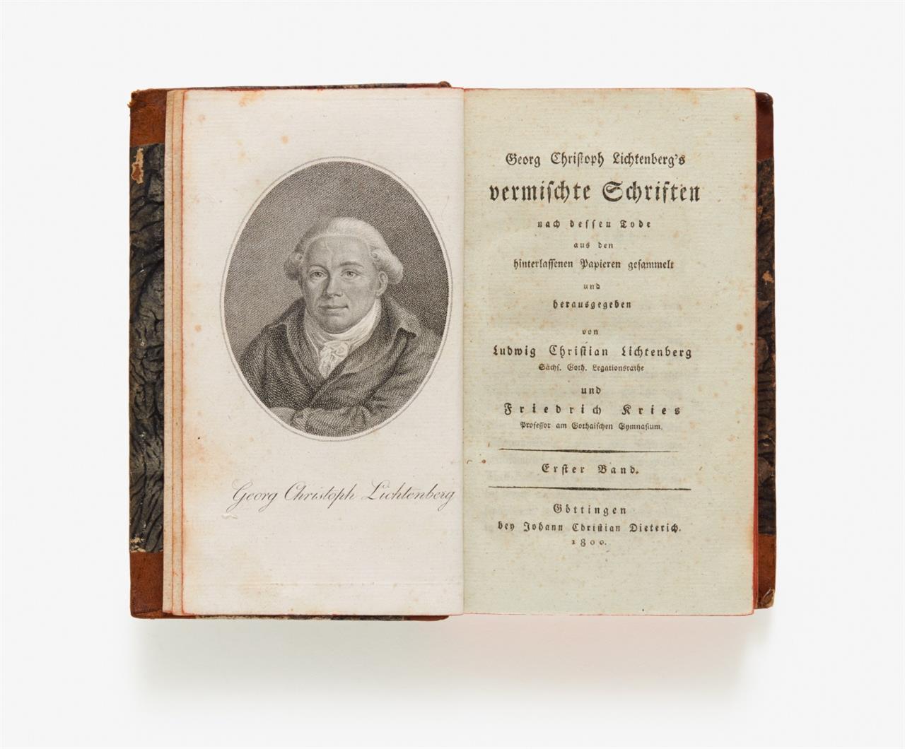 G. C.Lichtenberg, Vermischte Schriften. 9 Bde. Göttingen 1800-1806. - EGesA.