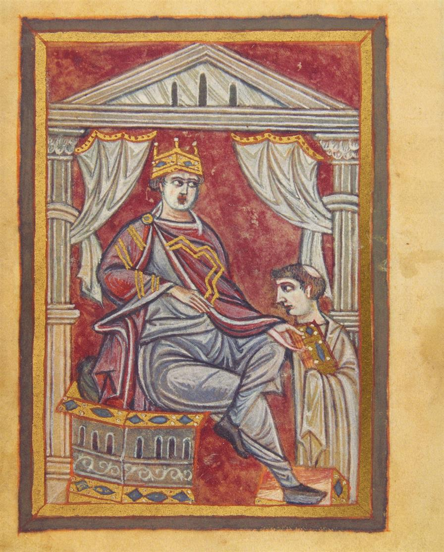 Das Gebetbuch Ottos III. - Faksimile + Kommentar in 2 Bdn. Luzern 2008. - Ex. 145/980.