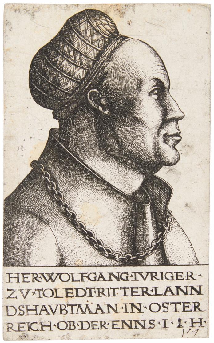 Hieronymus Hopfer. Wolfgang Jörger. Eisenradierung. Hollstein 68 II.
