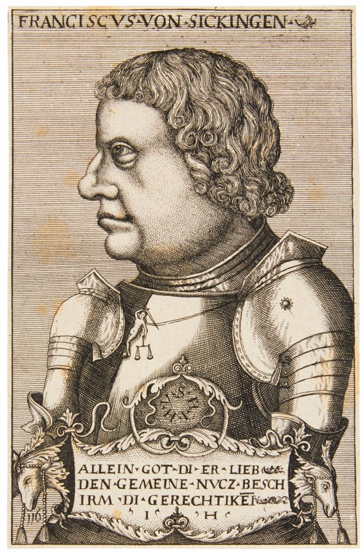 Hieronymus Hopfer, Kopie nach. Franz von Sickingen. Kupferstich. Hollstein 70 A.