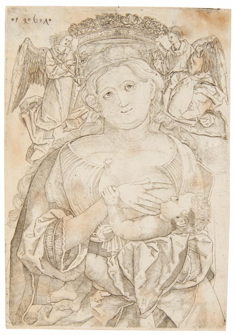Anonym, 15.Jh. Marienkrönung. 1461. Kupferstich, später Abdruck.