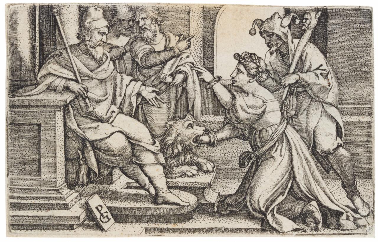 Georg Pencz. Bocca della Verità. Kupferstich. H. 138, B. 95.
