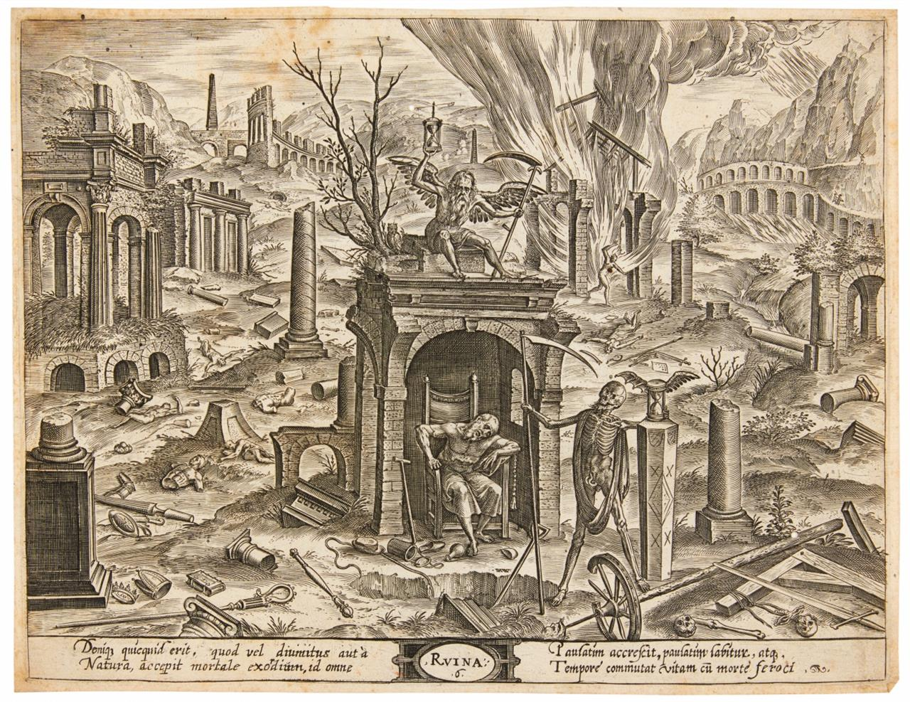 Hans Vredeman de Vries. Theatrum Vitae Humanae. 5 Bll. Kupferstiche d. Folge.