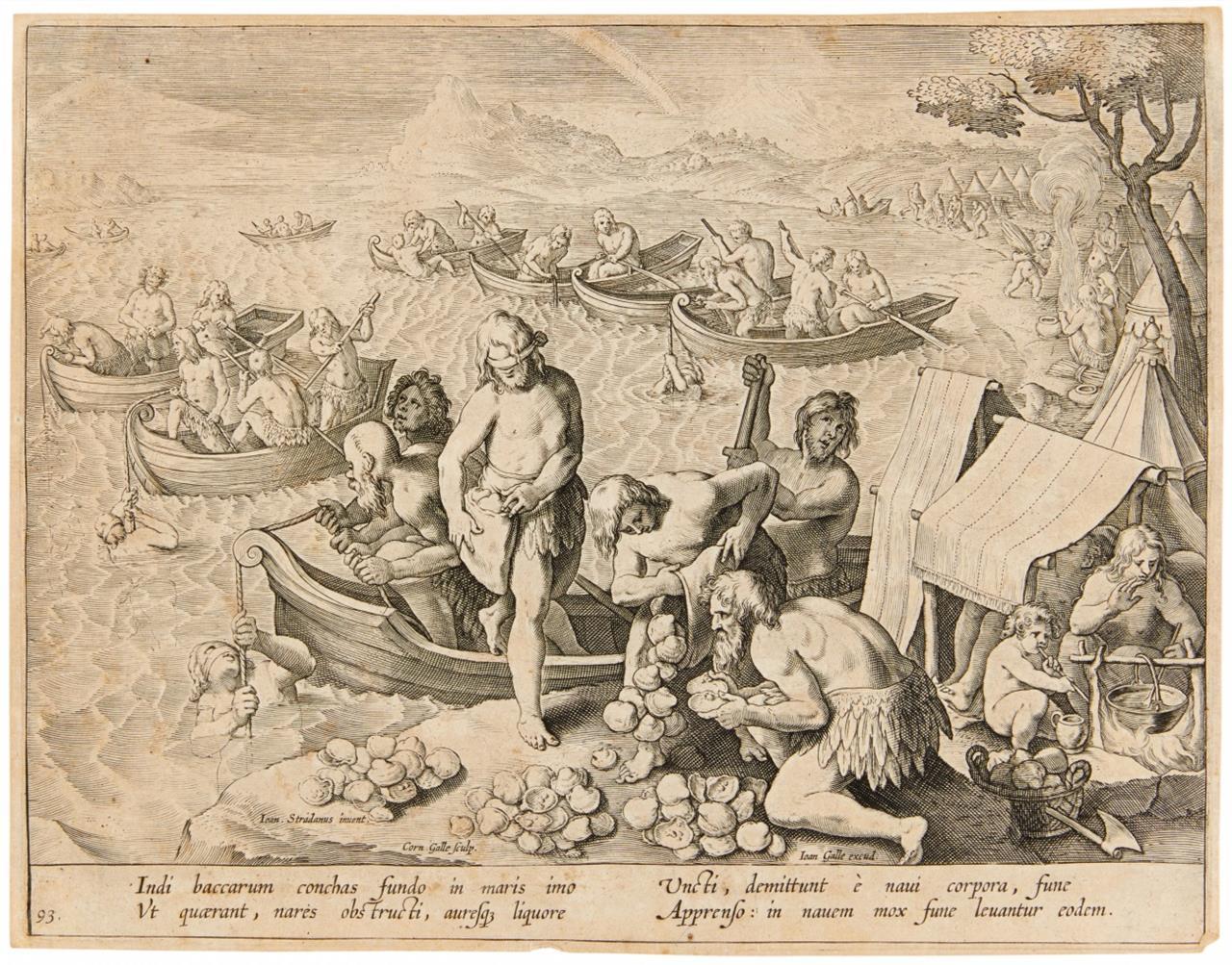 Johannes Stradanus. Venationes Ferarum  (A, B, C). 32 Bll. Kupferstiche a. d. Folgen.