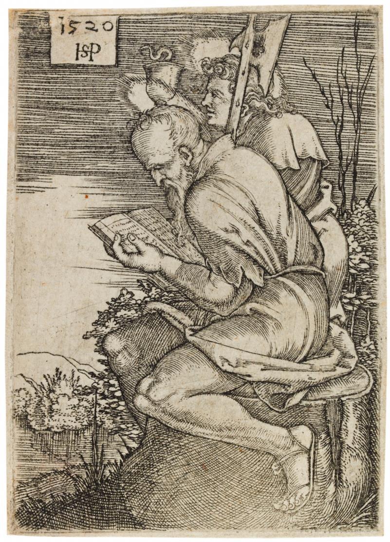 Hans Sebald Beham. Matthäus und Johannes. 1520. Kupferstich. B. 40.