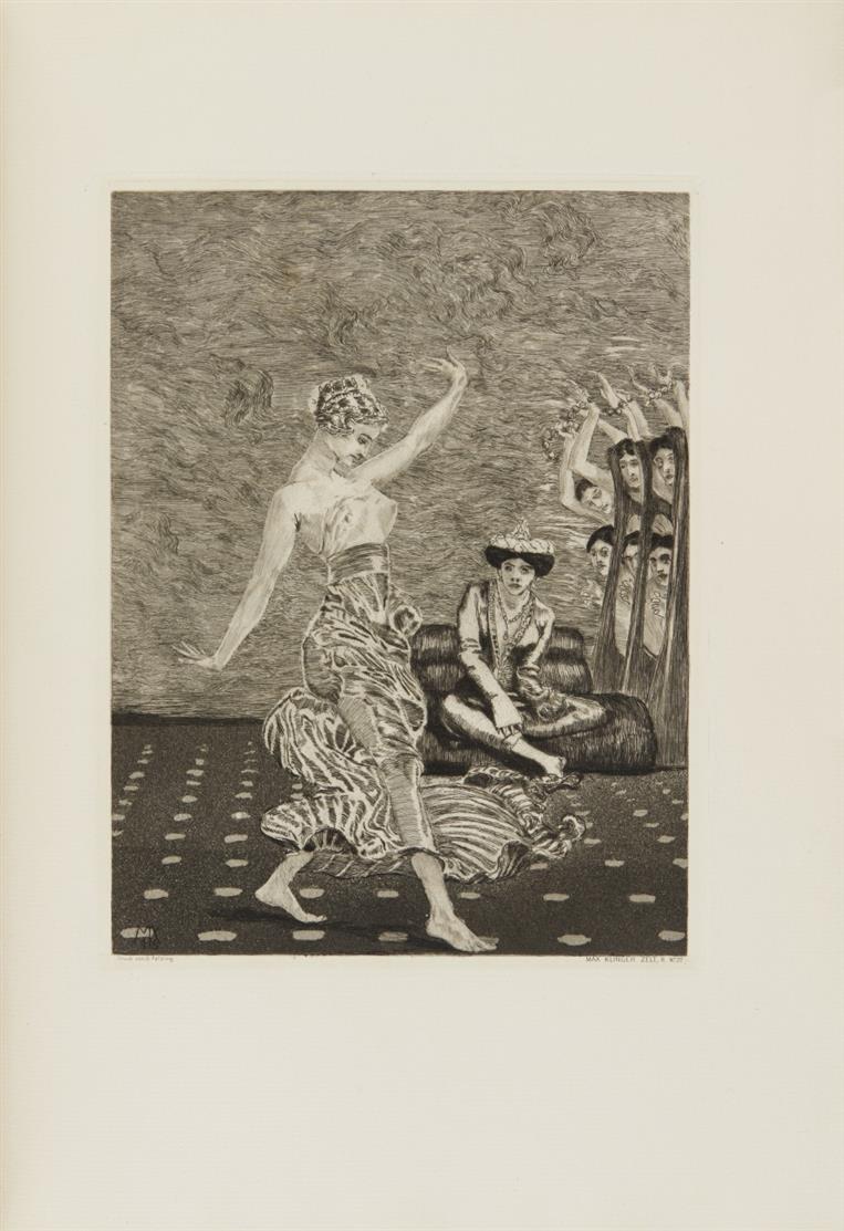 M. Klinger / H. Eulenberg, Zelt. Mit 46 Radierungen. Bln 1923. - Ex. 34/120.