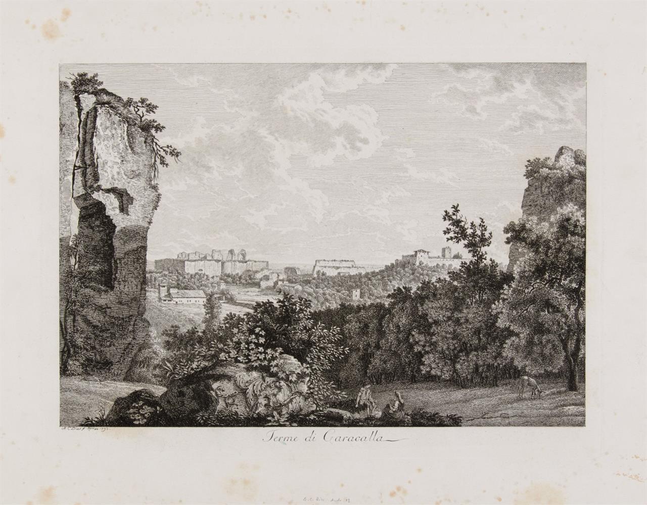 Albert Christoph Dies. Die Thermen des Caracalla. 1783. Radierung, A. III, 13.
