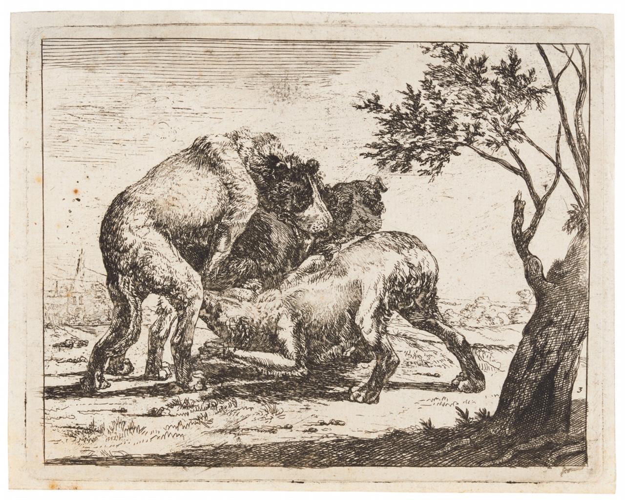 Paulus van Hillegaert. Die Hündin. Radierung. H. 3 III.
