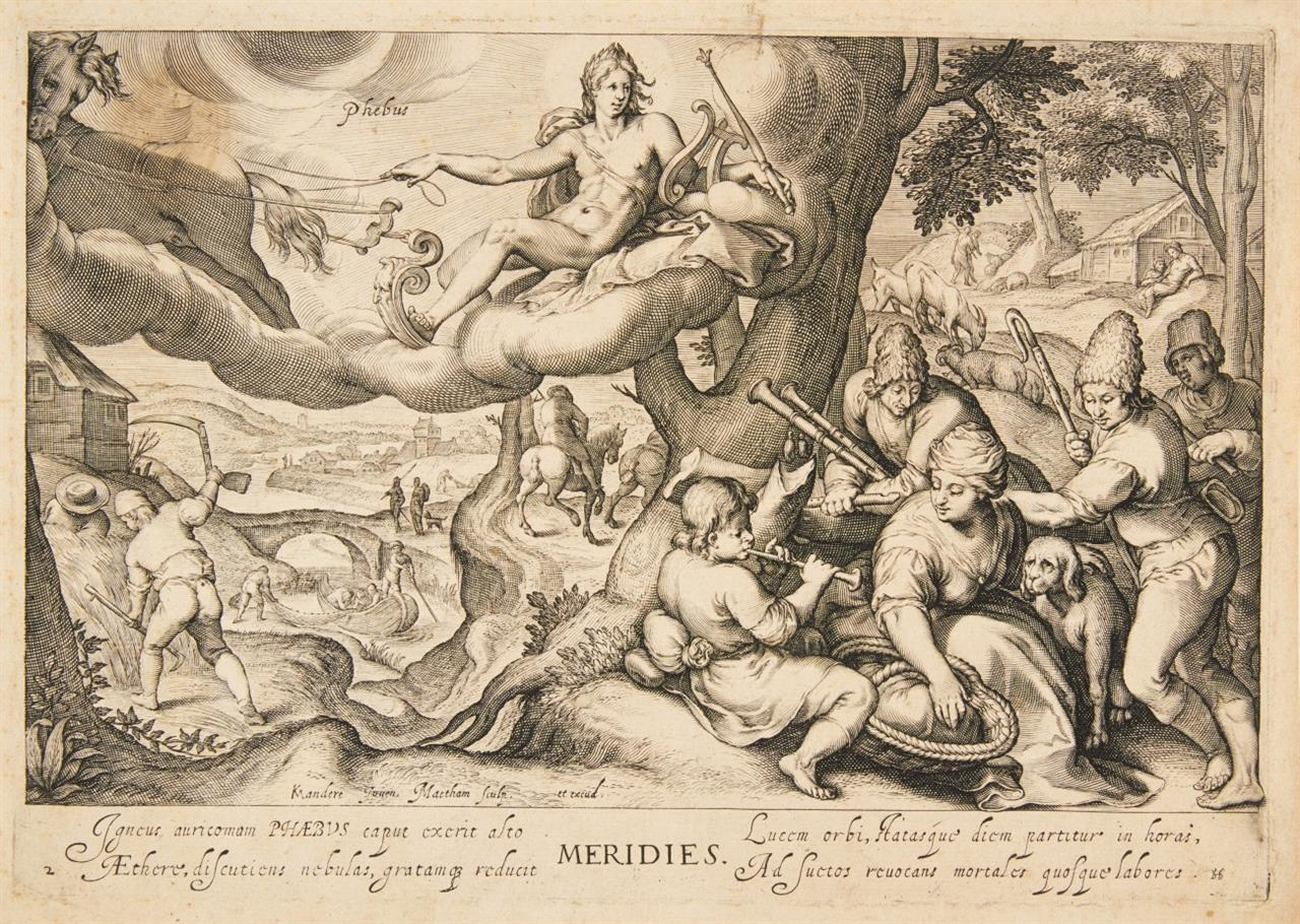 Jacob Matham. Der Mittag - Meridies. 1601. Kupferstich. NH 224.