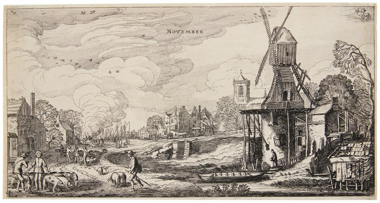 Jan van de Velde II. November. 1616. Radierung. H. 56 I.