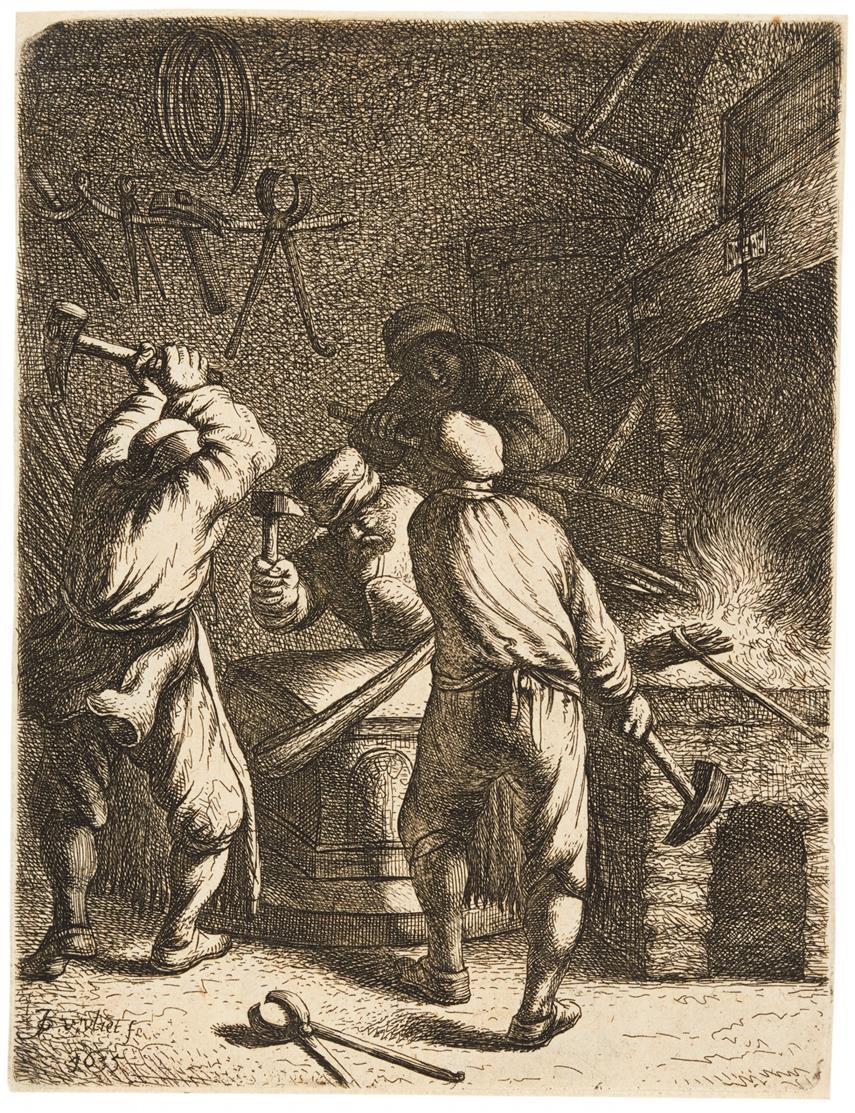 Johannes van Vliet. Schmiede. 1635. Radierung. H. 33.