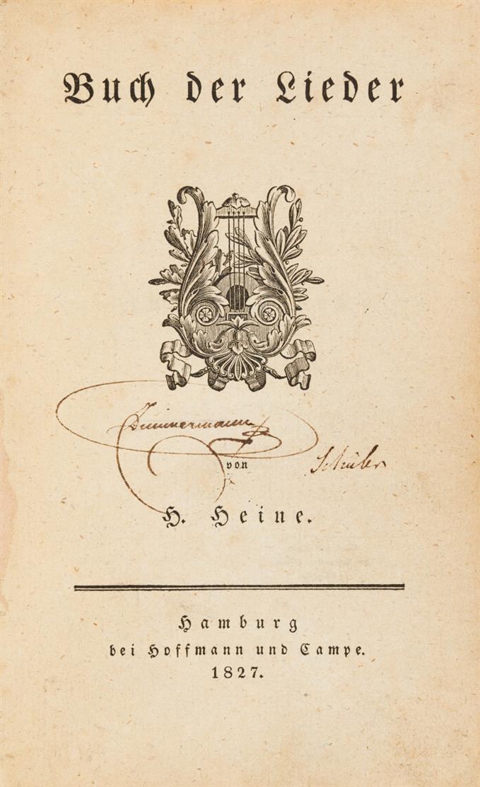 H. Heine, Buch der Lieder. Hamburg 1827.