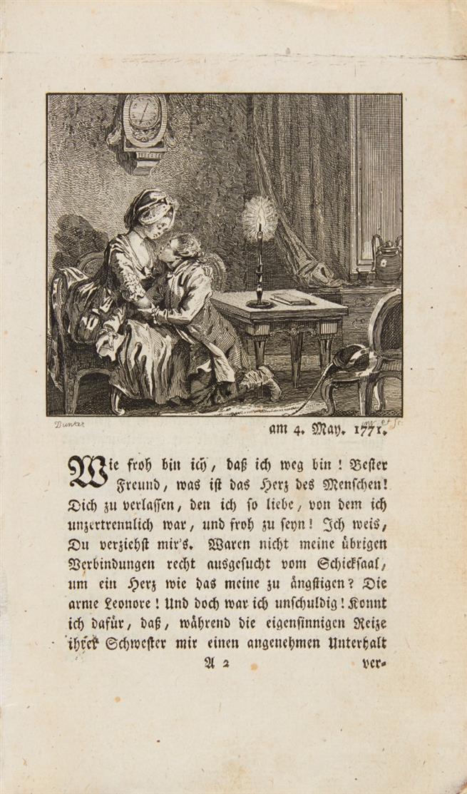 J. W. v. Goethe, Die Leiden des jungen Werthers. Bern 1775.