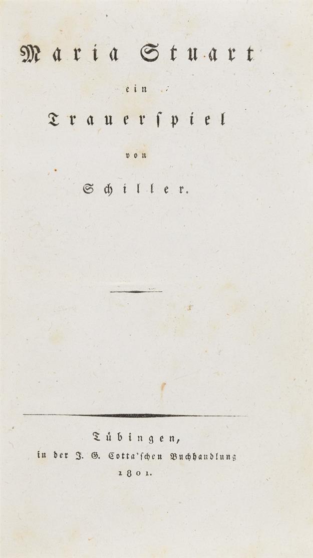 F. v. Schiller. Maria Stuart. Tübingen 1801.