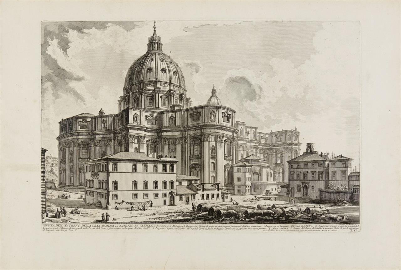 G. B. Piranesi. Veduta dell' est. d. G. Basilica di S. Pietro in Vaticano. 1748. Radierung. H. 5; W-E. 135.
