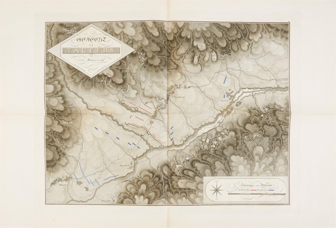 Karten und Pläne zu der Geschichte des Feldzuges vom Jahre 1799 ... Wien 1819.