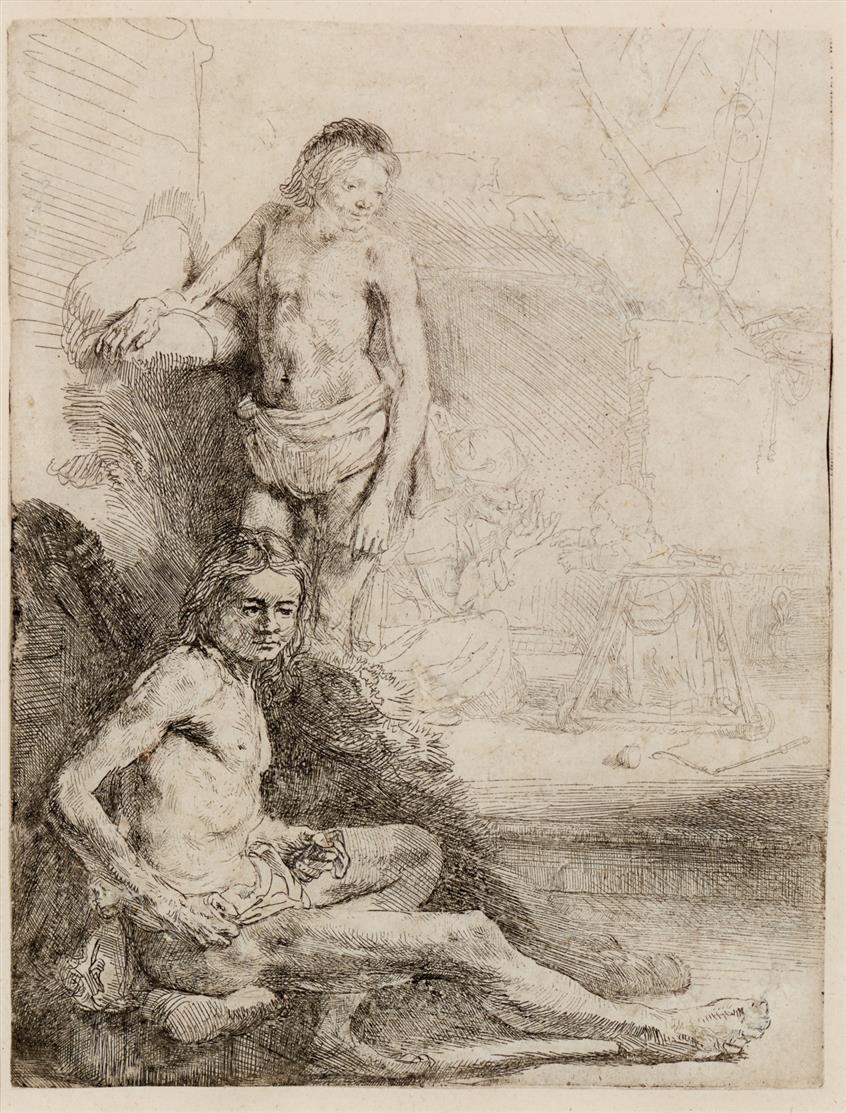 Rembrandt. Zwei männliche Akte (
