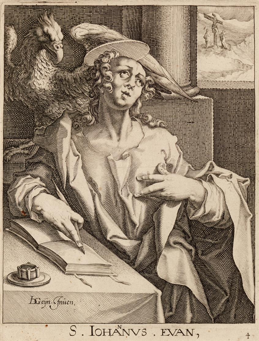 Jacob de Gheyn, nach. Evangelist Johannes. Kupferstich.