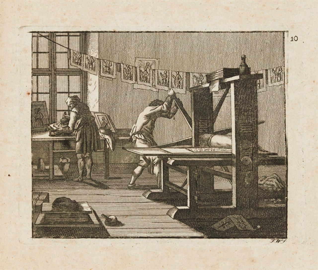 Schauplatz der Natur und der Künste, in vier Sprachen ... 10 Jge. in 5 Bden. Wien 1774-1783.