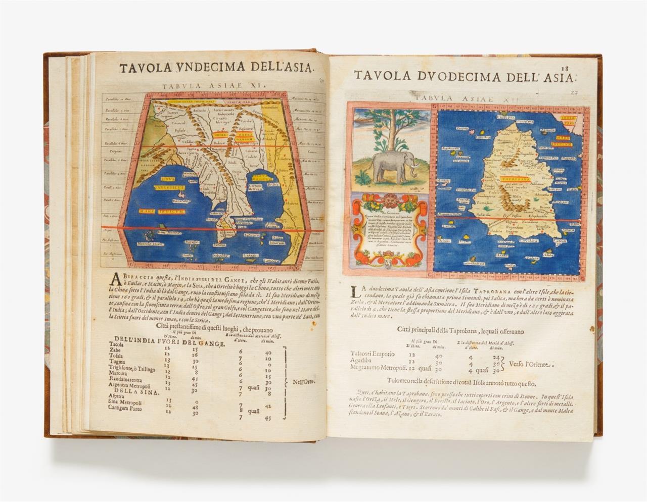 C. Ptolemaeus, Geografia. Seconda parte (v. 2). Ed. G. A. Magini. 2 Tle. in 1 Bd. Padua 1620