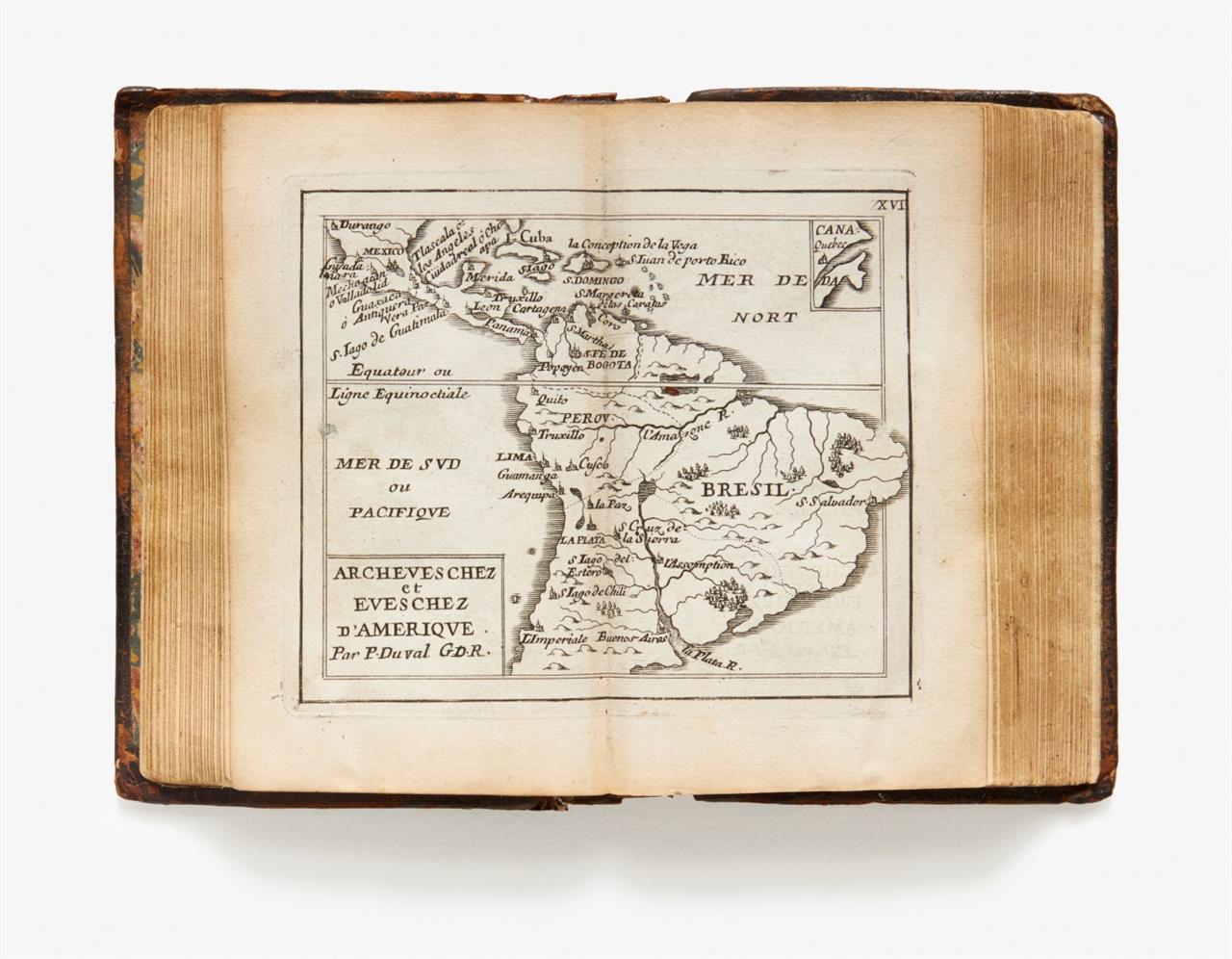 P. Duval. 4 kartographische Werke in 1 Bd. Paris, um 1667-72.