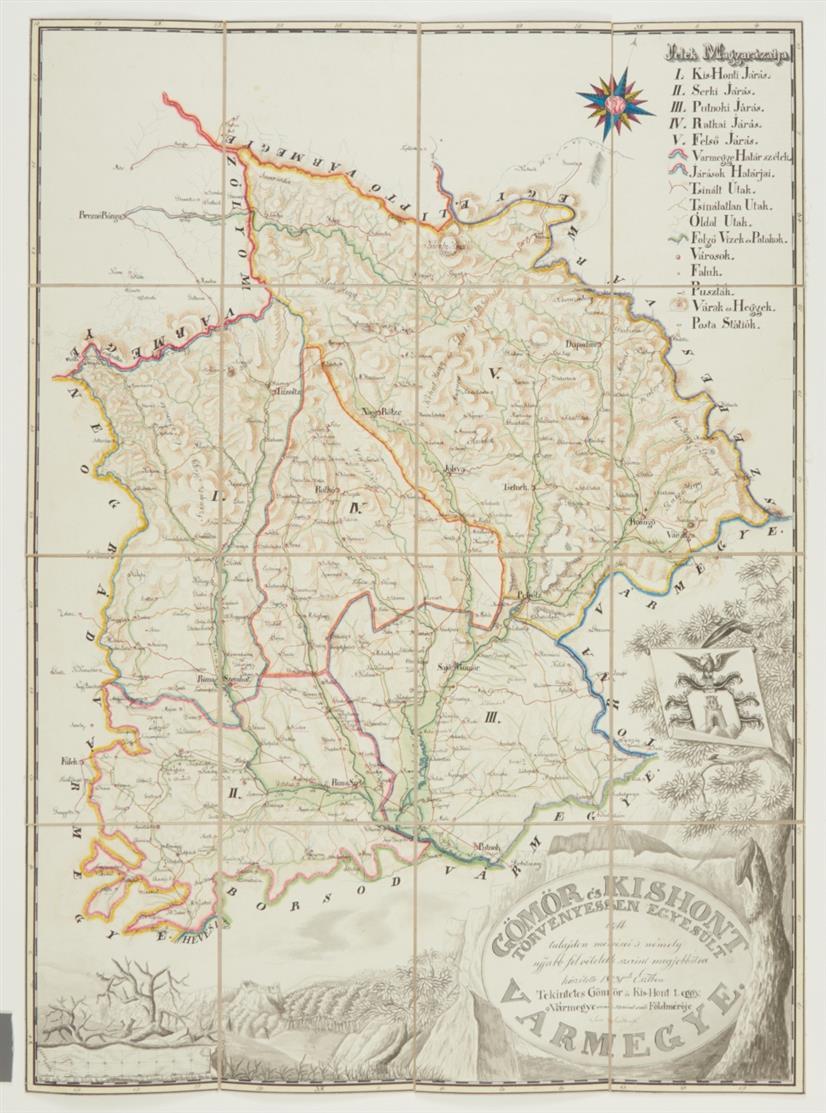 Ungarn/Slowakei. - 2 Manuskriptkarten. 19. Jh.