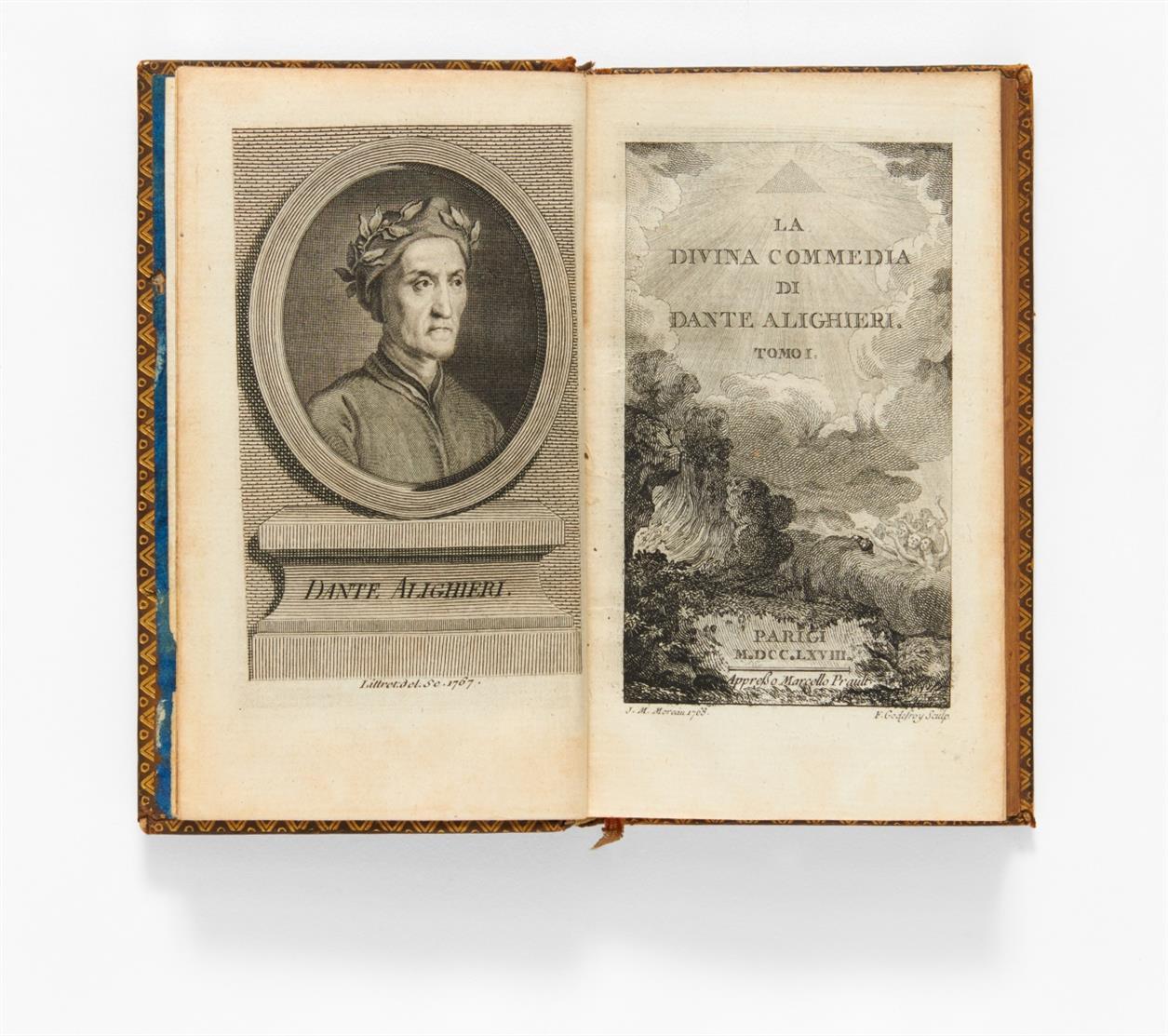 Dante Aligheri, La Divina Commedia. 2 Bde. Paris 1768.