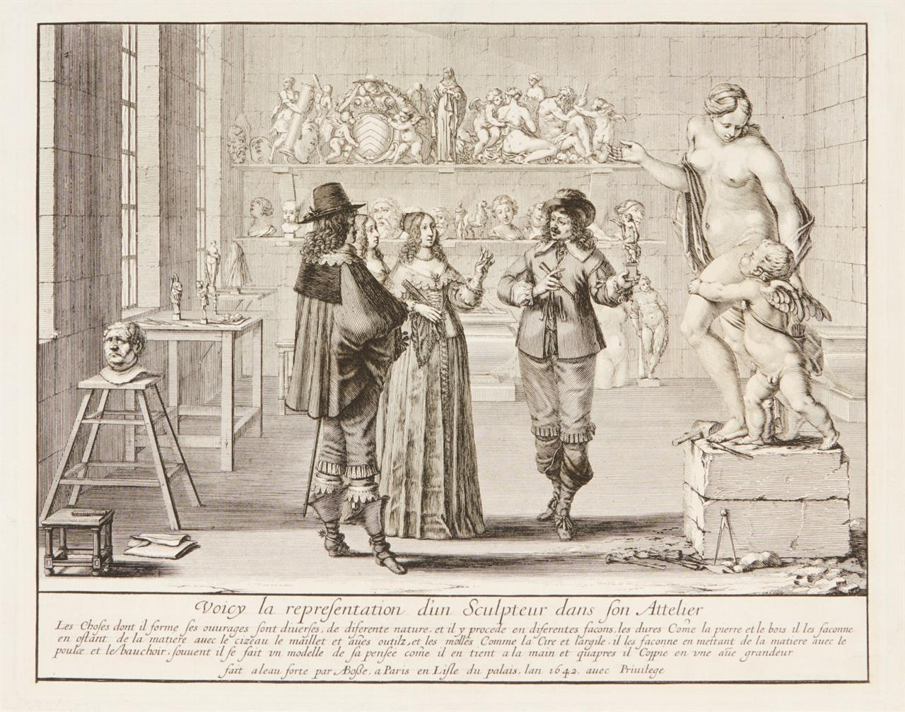 Abraham Bosse. Le Sculpteur. 1642. Radierung. Blum 204.