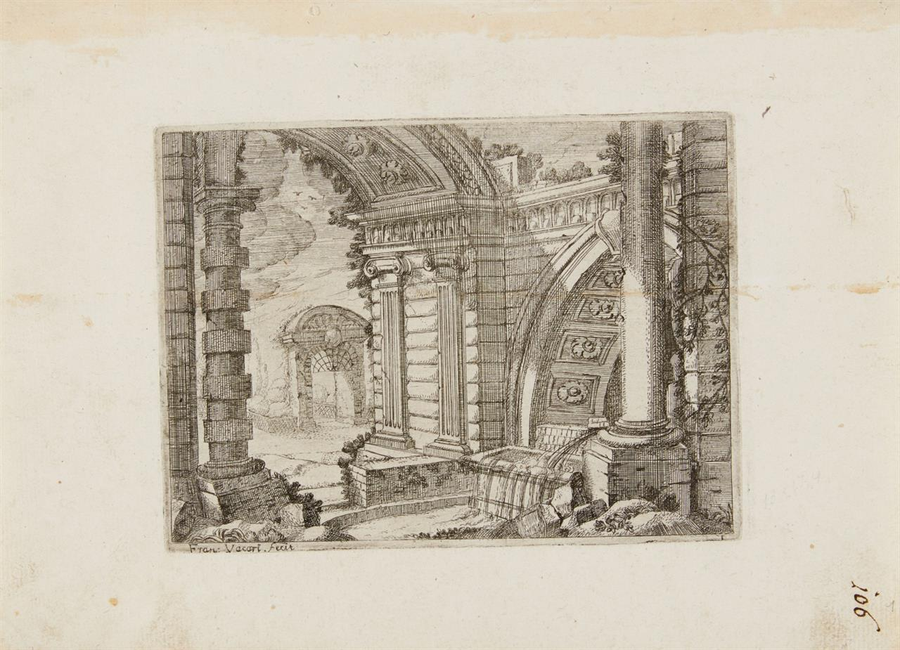Francesco Vaccari. Prospettive. Folge von 13 Blatt (inkl. Titel) Radierungen. N. 2.