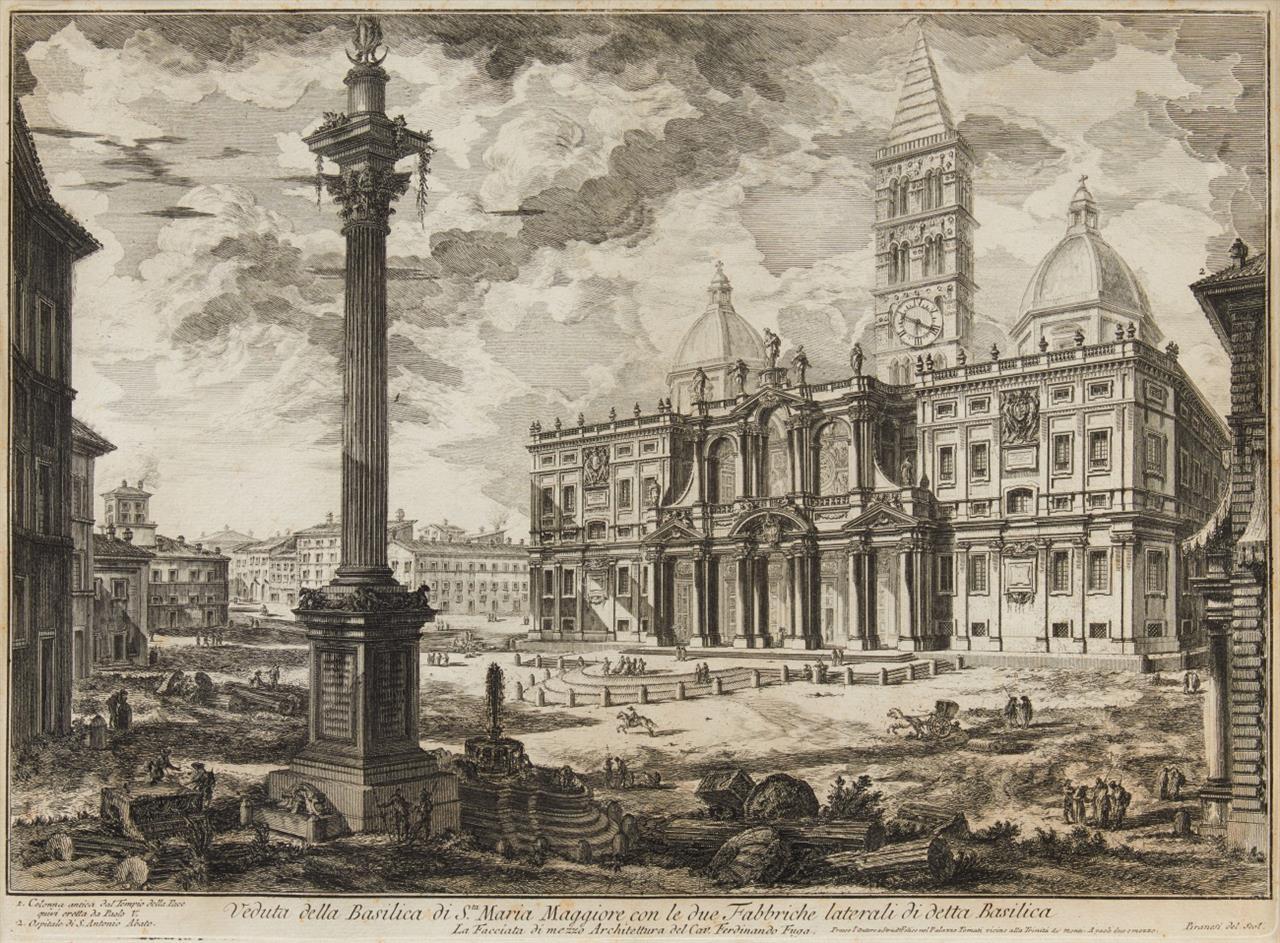 G. B. Piranesi. Veduta d. Basilica di S. Maria Maggiore. 1749. Radierung. H. 9 III, W.-E. 140.