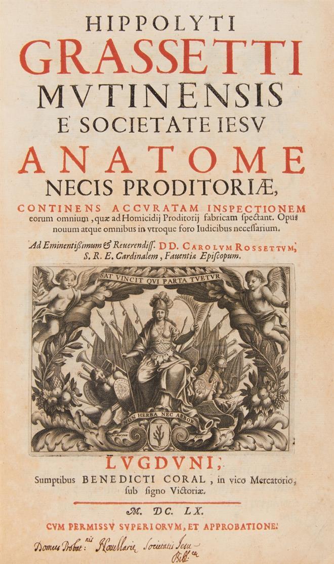 H. Grassettus, Anatome necis proditoriae. Lyon 1660.