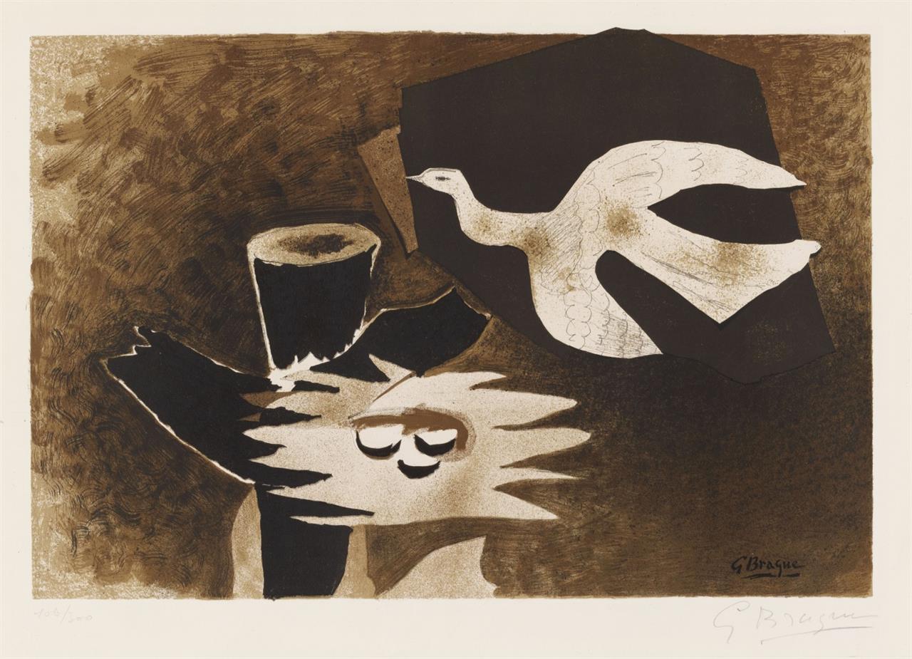 Georges Braque. L' Oiseau et son nid. 1956. Farblithographie. Signiert. Ex. 100/300.