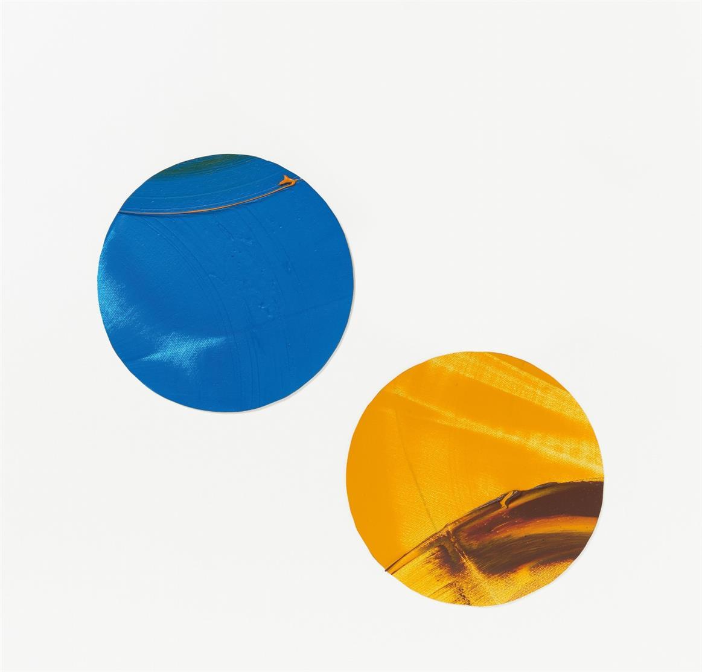 Ute Heuer. Malereidetail. 1997/99 / Edition Ball. 2007. 3 Arbeiten, Öl auf Lw. Verso signiert. Unikat bzw. Ex. 5 bzw. 21 von 30 Einzelarbeiten mit Unikatcharakter.