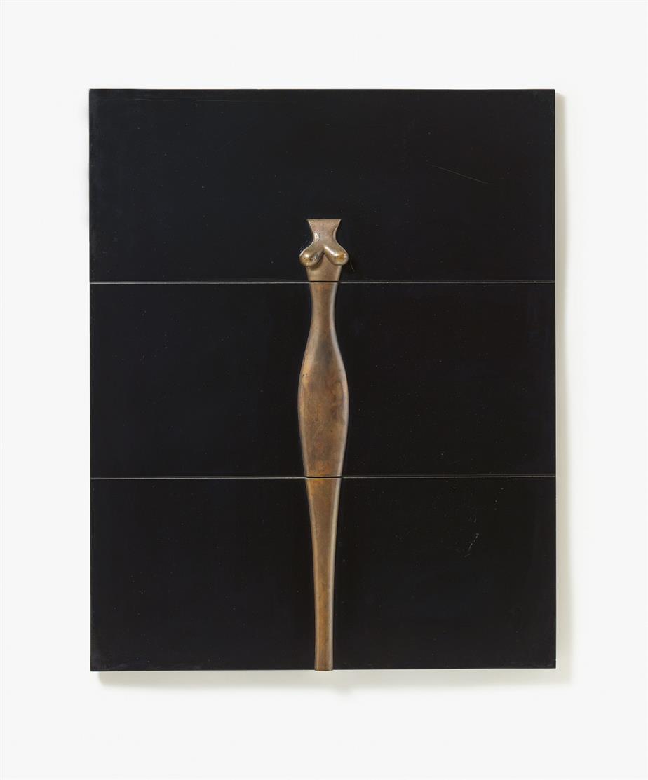 Paul Wunderlich. Dein Leib ist wie ein Palmenbaum. 1970. Bronze, Kunststoff, Holz. Monogrammiert. Ex. 2/18. Spielmann 9.