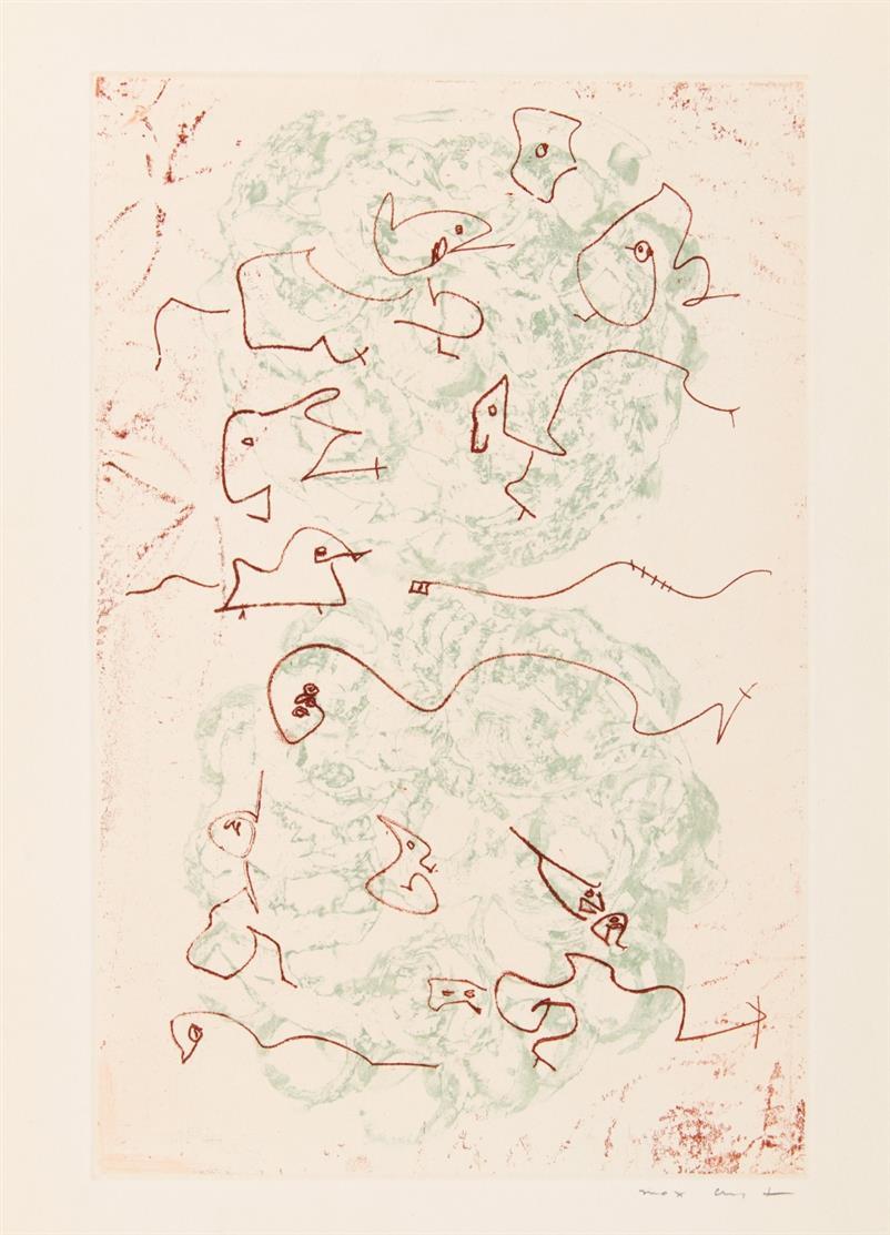 M. Ernst / J. Prévert, Les chiens ont soif. Paris 1964. - Ex. 172/250.