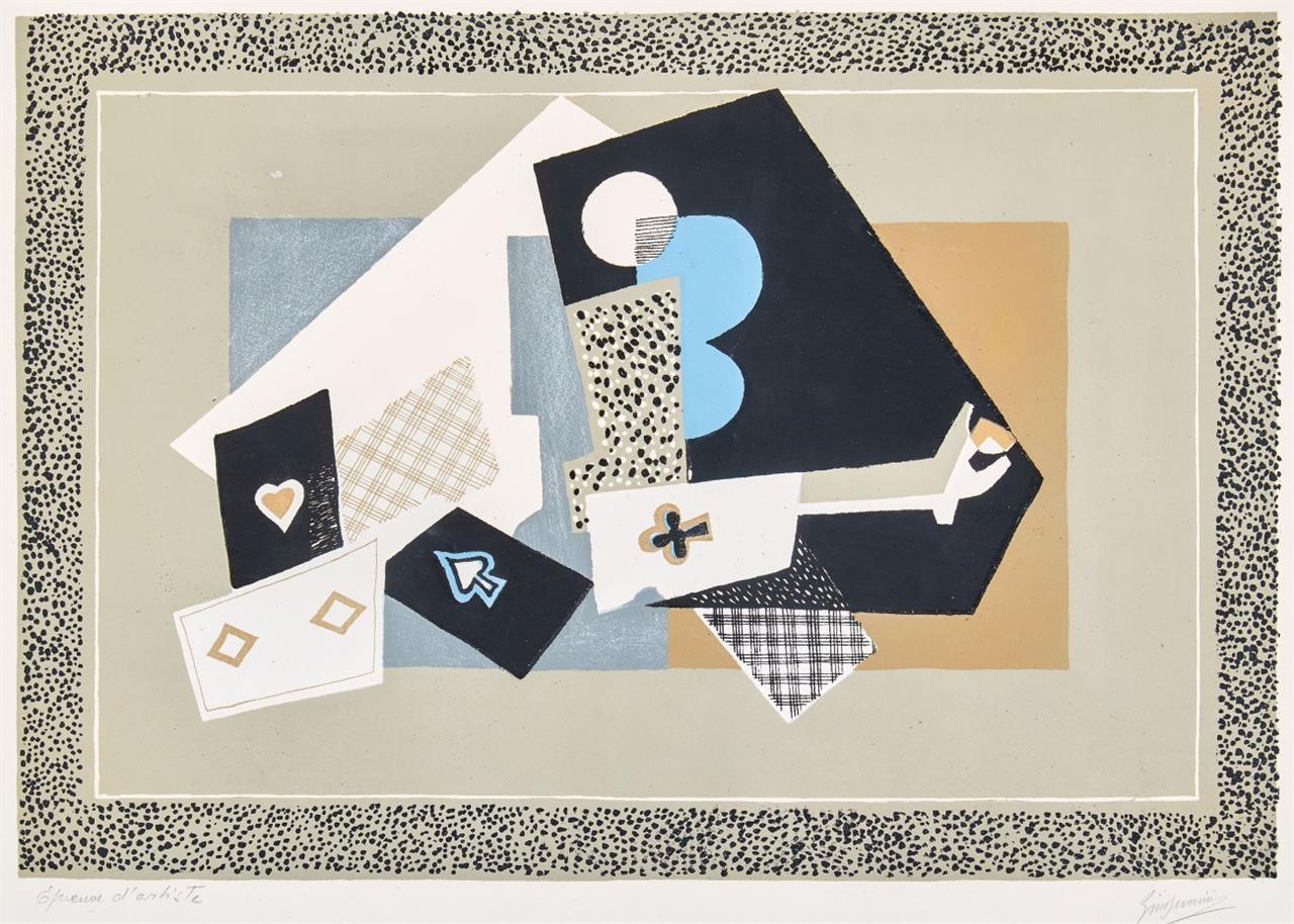 Gino Severini. Nature morte.1958. Farblithographie. Signiert. Ex. E.A.