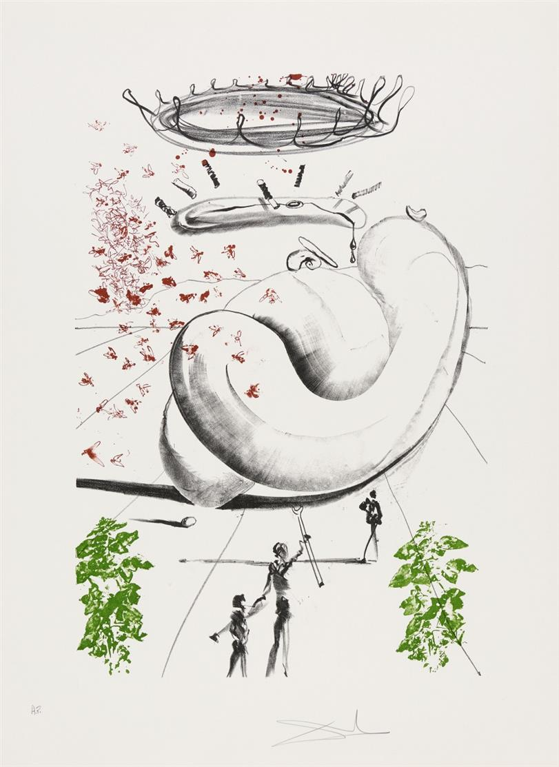 Salvador Dali. Moscas (Colibri). 1973. Farblithographie. Signiert. Ex. A.P. Field 73-5 B,