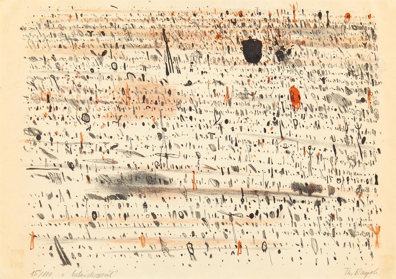 Thomas Bayrle. Geländespiel. Farblithographie. Signiert. Ex. 15/100.