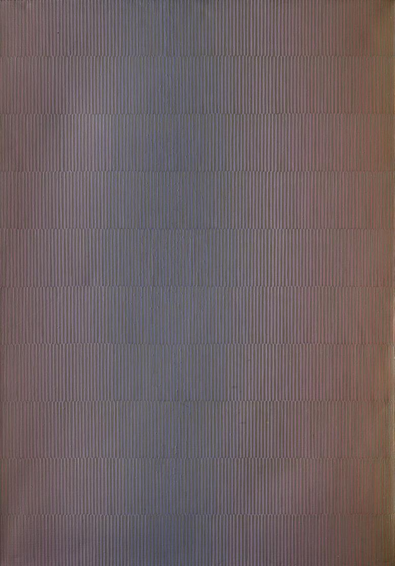 Johannes Geccelli. Lichttief.1979. Acryl auf Leinwand. Signiert.