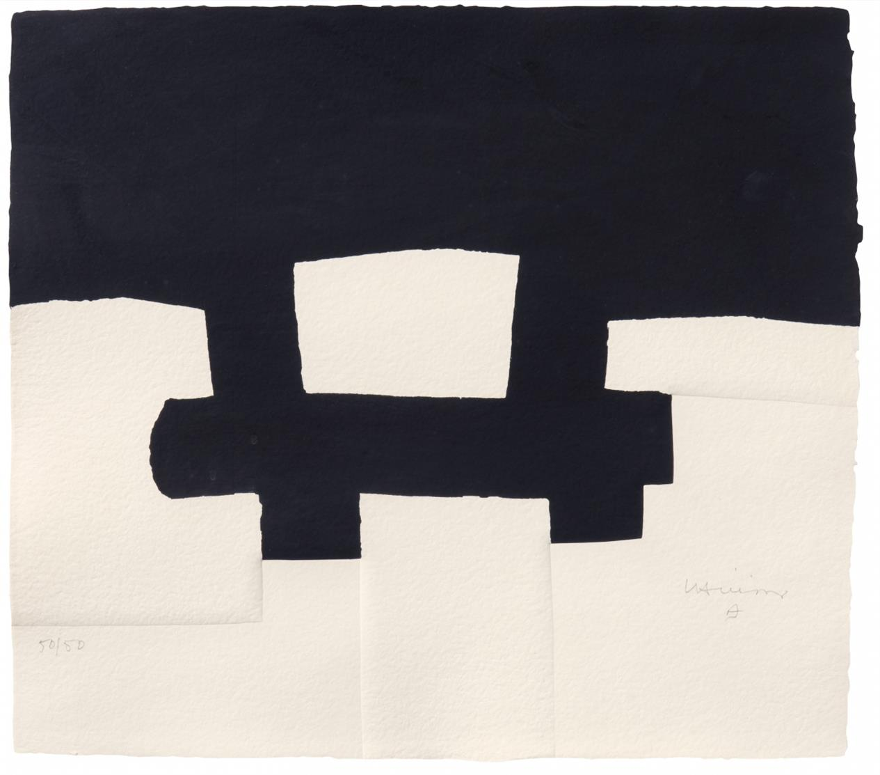 Eduardo Chillida. Berlin. 1990. Serigraphie mit Prägedruck. Signiert. Ex. 50/50. V.d.K. 90014.