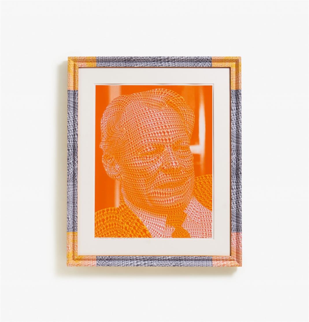 Thomas Bayrle. Willy Brandt. 2000. Farbserigraphie. Signiert. Probedruck II/II.