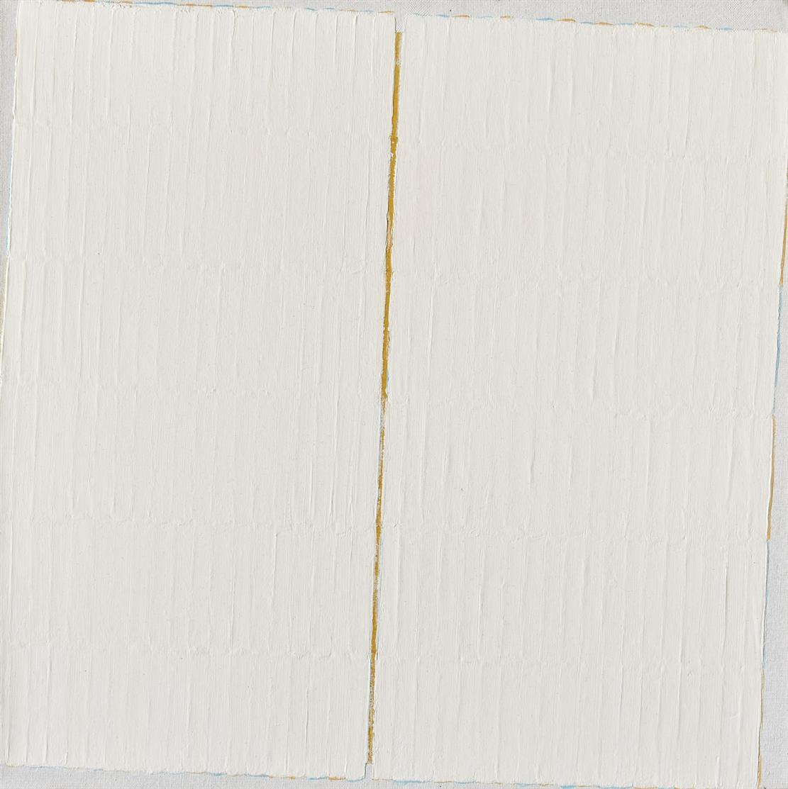 Johannes Geccelli. Weiß auf der Kippe, 2001. Öl auf Leinwand. Signiert.