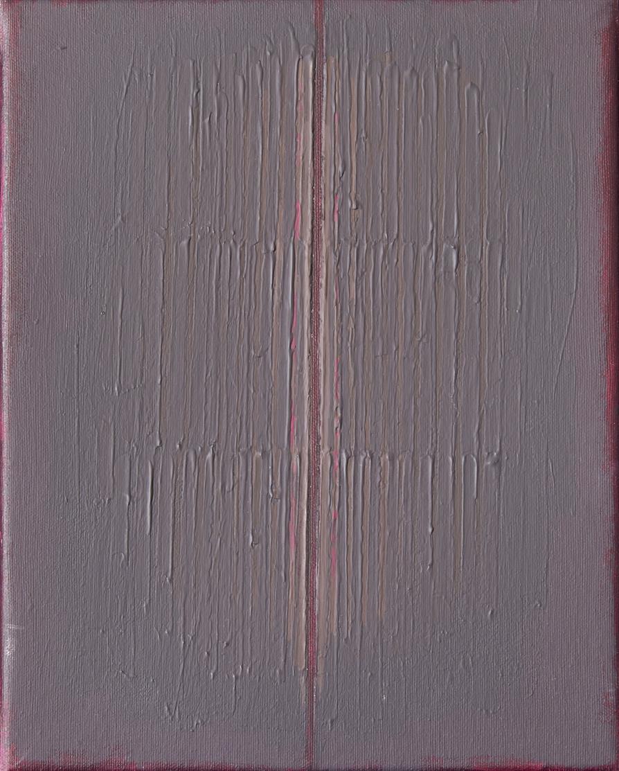 Johannes Geccelli. Spaltstudie. 1987. Acryl. Signiert.