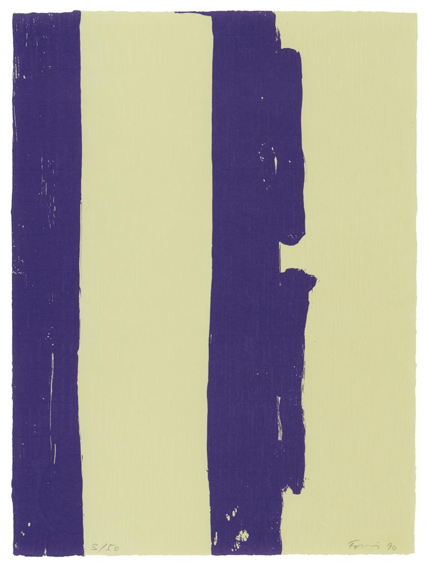 Günther Förg. Ohne Titel. 1990. 3 Blatt Farbserigraphien. Signiert. Ex. je 3/50.