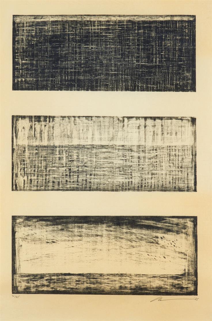 Robert Wilson. Ohne Titel. 1985. Lithographie. Signiert. Ex. 30/35.