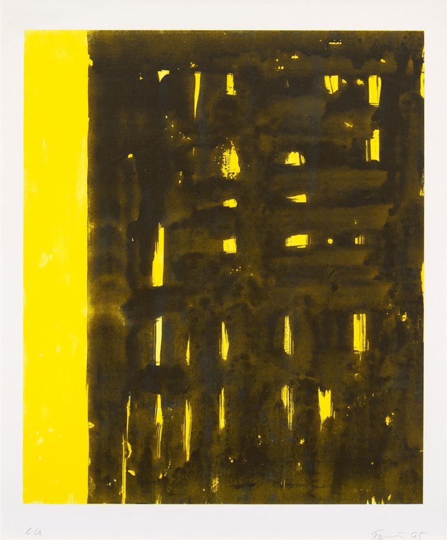 Günther Förg. Ohne Titel. 1995. 4 Blatt Farblithographien. Signiert. Ex. e.a.